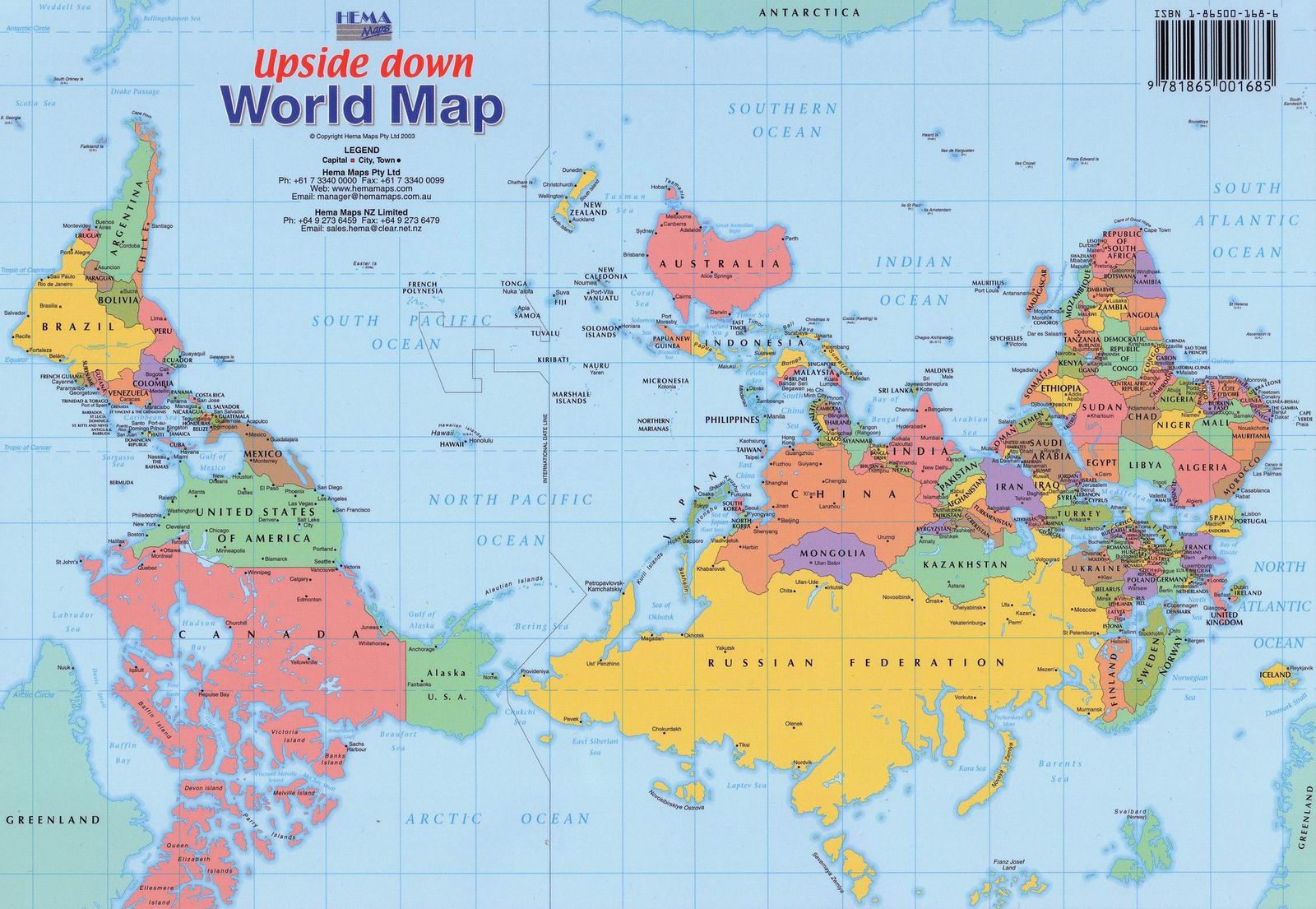 The Upside Down Map of the World