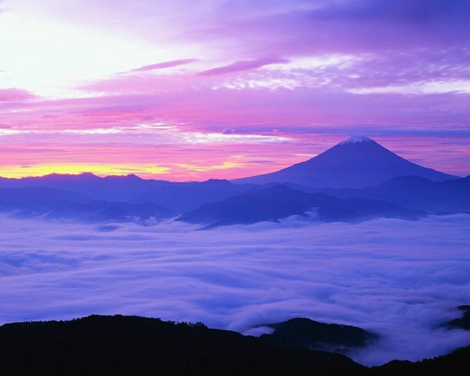 Mount Fuji and Fog in November