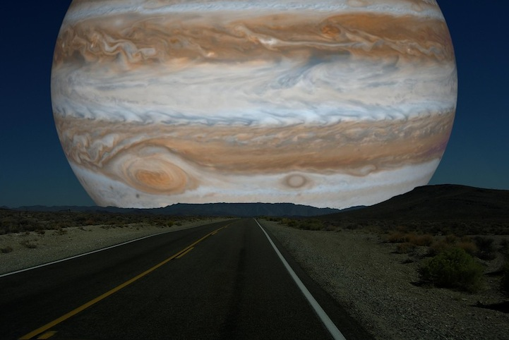 Jupiter instead of the Moon