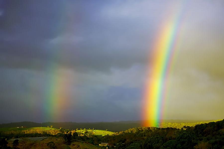 Amazingly bright double rainbow in Costa Rica. Photo #32 by Orin