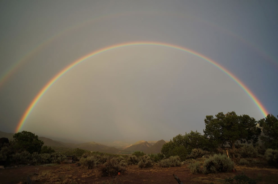 Double rainbow over Embudo Valley. Photo #41 by Mike Lewinski