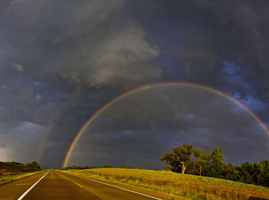 """""""And when it rains on your parade, look up rather than down. Without the rain, there would be no rainbow,"""" ~ quote by Gilbert K. Chesterton. Photo #42 by David DeHetre"""