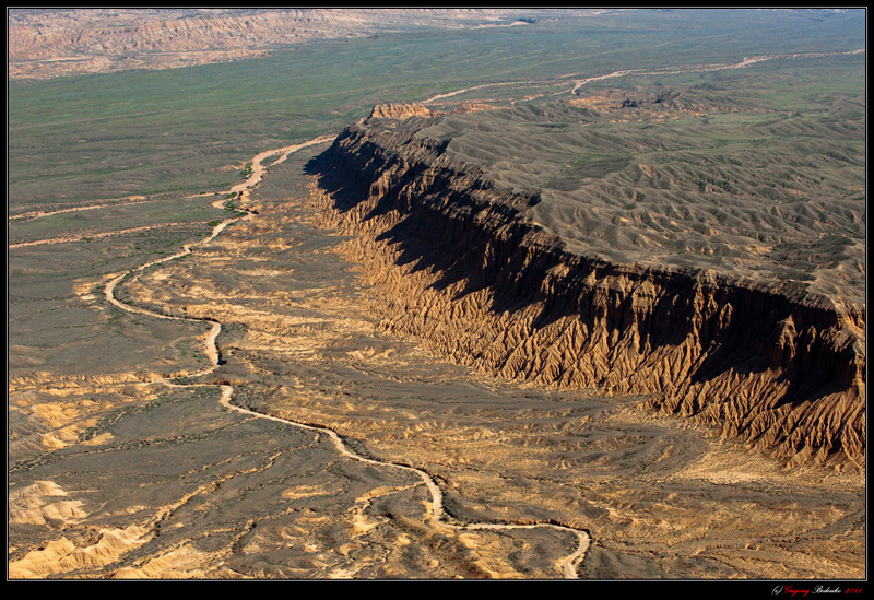 """These geological formations in Central Asia called """"USTYURT."""" This is kilometers in 200 of Alma-Ata, Kazakhstan towards the Chinese border."""