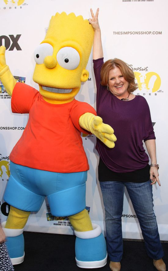 Bart Simpson and Nancy Cartwright