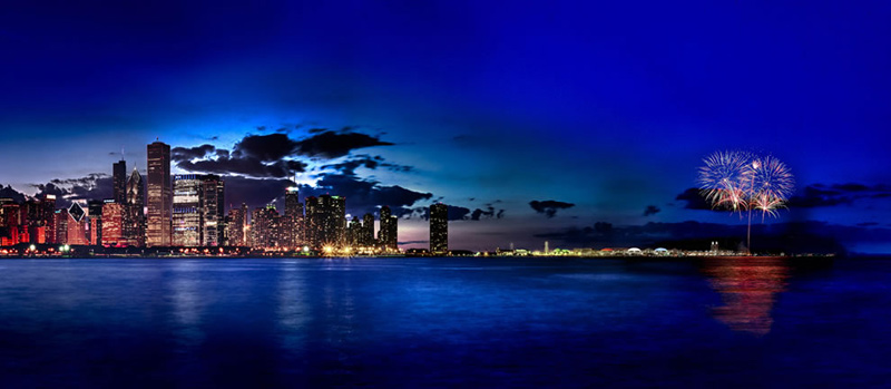Navy-Pier-Fireworks-From-Adler-Planetarium-Chicago-Illinois