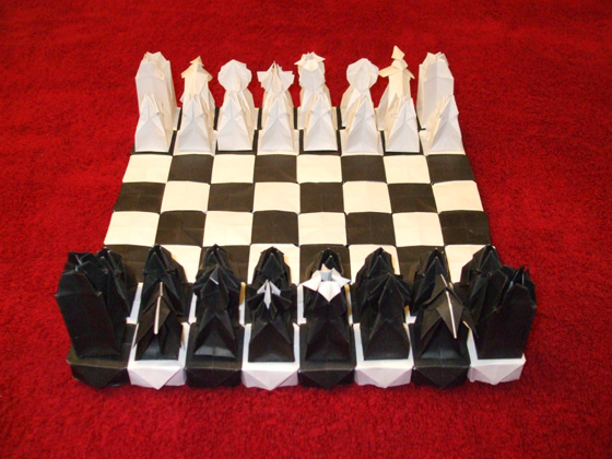 origami Chess Set12