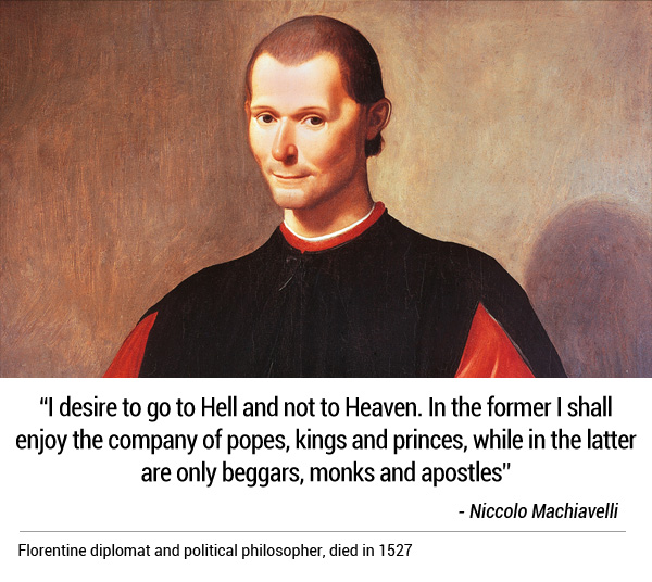 Funny Last Words of Machiavelli