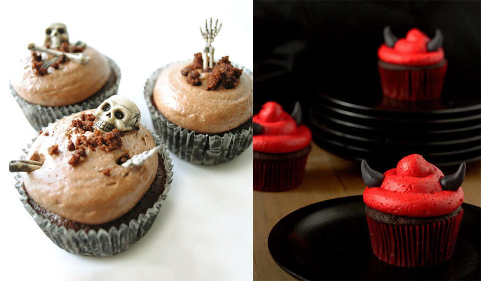 Wickedly fun halloween cupcakes memolition Halloween cupcakes