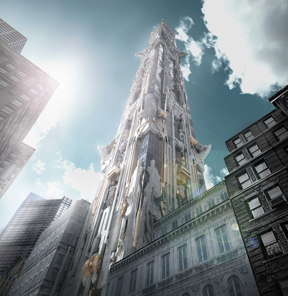 manhattan newest skyscraper takes gothic architecture to