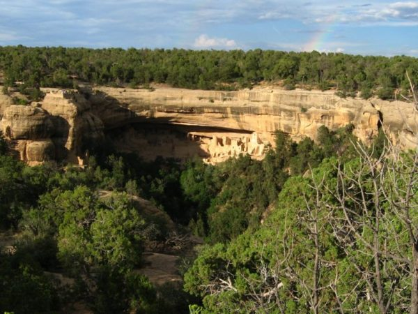 cliff palace from mesa top loop road - mesa verde national park - colorado