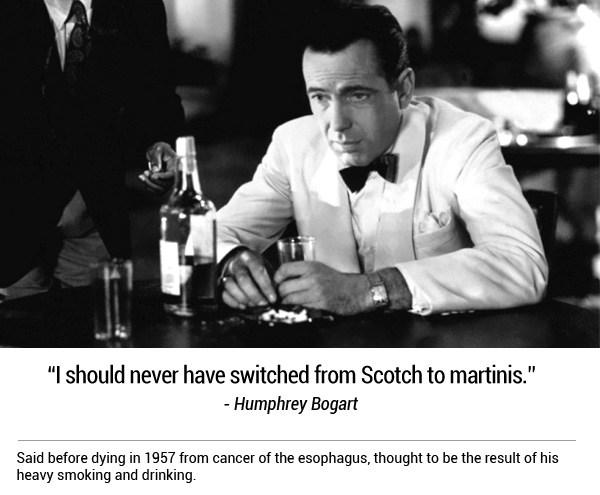 Last words of Humphrey Bogart