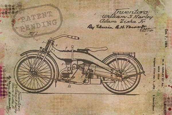 Patent drawing of motorcycle